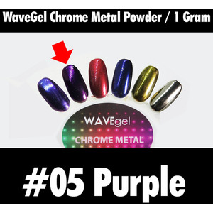 WaveGel Chrome Metal Powder - #06 Purple 1 Gram ()