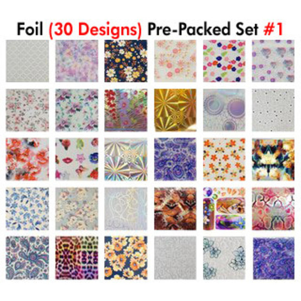 WaveGel Foil - 30 Pre-Packed Foil Designs #1 - GET 1 FREE BLINK GEL (20982-01)
