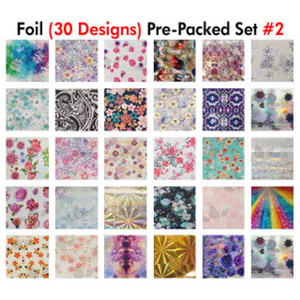 WaveGel Foil - 30 Pre-Packed Foil Designs #2 - GET 1 FREE BLINK GEL (20982-02)