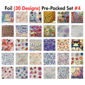 WaveGel Foil - 30 Pre-Packed Foil Designs #4 - GET 1 FREE BLINK GEL (20982-04)
