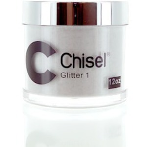 Chisel 2-in-1 Color Acrylic & Dipping Powder - GLITTER 01 12 oz. Refill ()