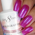 Cre8tion - Holographic Soak Off Gel 0.5 oz. - HG07 (HG07)