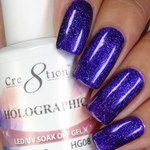 Cre8tion - Holographic Soak Off Gel 0.5 oz. - HG08 (HG08)