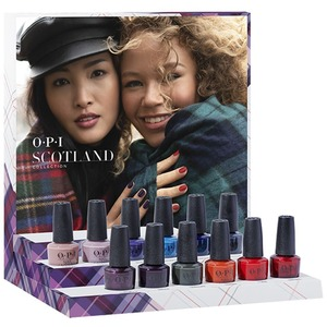 OPI Lacquer - Scotland Collection - DCU03 - Scotland Lacquer Chipboard Display - 12 Pieces (DCU03)