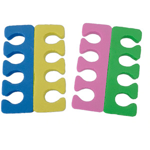 Toe Separators - Multi Color EVA Foam 100 Pairs (21340)