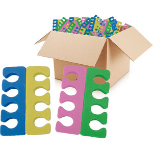 Toe Separators - Multi Color EVA Foam Case of 100 Pairs (21339)