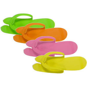 Disposable Pedicure Slippers - Fold Type - Not Folded Yet 12 Pairs (21338)
