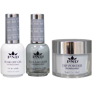 PND Combo Pack - 3-in-1 Matching | 1 Gel Polish 0.5 oz. + 1 Lacquer 0.5 oz. + 1 Dipping Powder 1.7 oz. in Matching Colors Color #E02 ()
