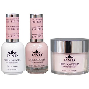 PND Combo Pack - 3-in-1 Matching | 1 Gel Polish 0.5 oz. + 1 Lacquer 0.5 oz. + 1 Dipping Powder 1.7 oz. in Matching Colors Color #E10 ()