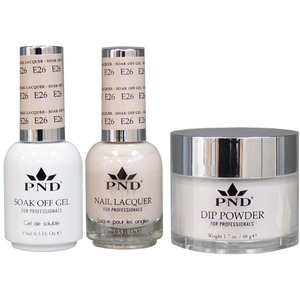 PND Combo Pack - 3-in-1 Matching | 1 Gel Polish 0.5 oz. + 1 Lacquer 0.5 oz. + 1 Dipping Powder 1.7 oz. in Matching Colors Color #E26 ()