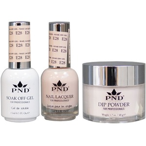PND Combo Pack - 3-in-1 Matching | 1 Gel Polish 0.5 oz. + 1 Lacquer 0.5 oz. + 1 Dipping Powder 1.7 oz. in Matching Colors Color #E28 ()