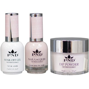 PND Combo Pack - 3-in-1 Matching | 1 Gel Polish 0.5 oz. + 1 Lacquer 0.5 oz. + 1 Dipping Powder 1.7 oz. in Matching Colors Color #E33 ()