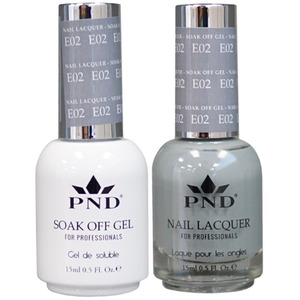 PND Matching Gel Polish 0.5 oz. + Lacquer 0.5 oz. Color #E02 ()