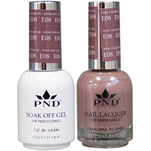 PND Matching Gel Polish 0.5 oz. + Lacquer 0.5 oz. Color #E08 ()