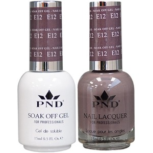 PND Matching Gel Polish 0.5 oz. + Lacquer 0.5 oz. Color #E12 ()