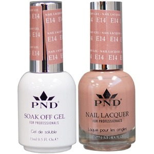PND Matching Gel Polish 0.5 oz. + Lacquer 0.5 oz. Color #E14 ()
