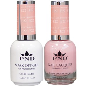 PND Matching Gel Polish 0.5 oz. + Lacquer 0.5 oz. Color #E22 ()