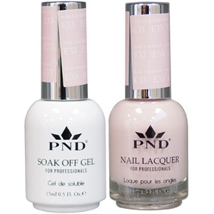 PND Matching Gel Polish 0.5 oz. + Lacquer 0.5 oz. Color #E33 ()