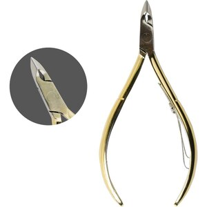 Chisel Hard Steel Polished Cuticle Nipper - CH55 Gold (CH55-Gold)
