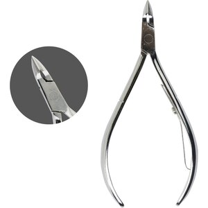 Chisel Hard Steel Polished Cuticle Nipper - CH55 Silver (CH55-Silver)
