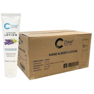 Chisel Hand & Body Lotion - Lavender Case of 60 Units - 3.3 oz. - 100 mL. Each ()
