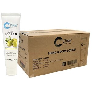 Chisel Hand & Body Lotion - Olive Case of 60 Units - 3.3 oz. - 100 mL. Each ()