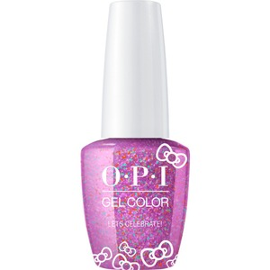 OPI GelColor Soak Off Gel Polish - Hello Kitty Collection - #HPL03 - Let's Celebrate! 0.5 oz. (#HPL03)