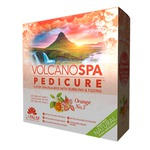 Volcano Spa Pedicure - 5-Step Spa-in-a-Box with Bubbling & Fizzing - Orange No. 5 1 Treatment Set by La Palm (14126)