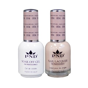 PND Matching Gel Polish 0.5 oz. + Lacquer 0.5 oz. Color #004 (#004)