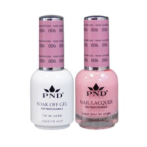 PND Matching Gel Polish 0.5 oz. + Lacquer 0.5 oz. Color #006 (#006)