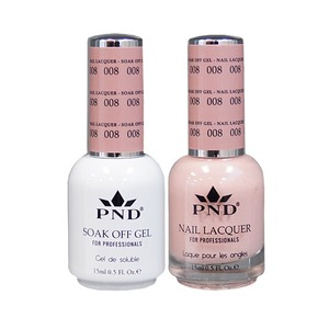 PND Matching Gel Polish 0.5 oz. + Lacquer 0.5 oz. Color #008 (#008)
