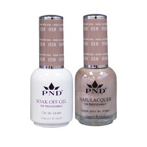 PND Matching Gel Polish 0.5 oz. + Lacquer 0.5 oz. Color #018 (#018)