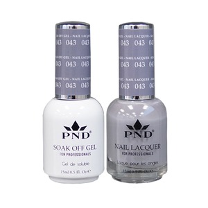 PND Matching Gel Polish 0.5 oz. + Lacquer 0.5 oz. Color #043 (#043)