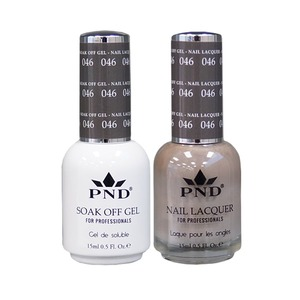 PND Matching Gel Polish 0.5 oz. + Lacquer 0.5 oz. Color #046 (#046)