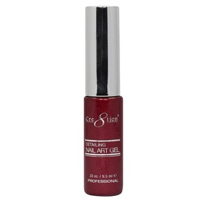 Cre8tion Detailing Nail Art Gel Striper - 28 Red Glitter 0.33 oz. ()