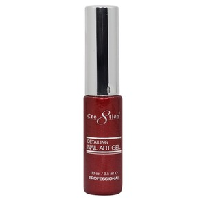 Cre8tion Detailing Nail Art Gel Striper - 36 Red Platinium 0.33 oz. ()