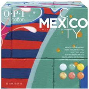 OPI GelColor Soak Off Gel Polish - Mexico City Collection - #GC284 Mexico City Add-On Kit #1 6 Piece Kit (14003)