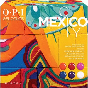 OPI GelColor Soak Off Gel Polish - Mexico City Collection - #GC285 Mexico City Add-On Kit #2 6 Piece Kit (14005)