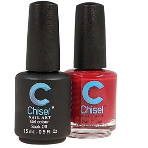Chisel Duo Matching Soak Off Gel Polish 0.5 oz. + Nail Lacquer 0.5 oz Matches Chisel Dipping Powder Colors! SOLID 1 (DUO-SOLID 1)