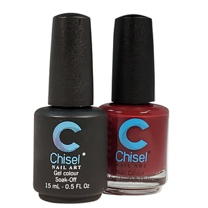 Chisel Duo Matching Soak Off Gel Polish 0.5 oz. + Nail Lacquer 0.5 oz Matches Chisel Dipping Powder Colors! SOLID 2 (DUO-SOLID 2)