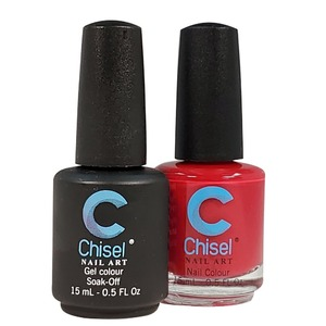 Chisel Duo Matching Soak Off Gel Polish 0.5 oz. + Nail Lacquer 0.5 oz Matches Chisel Dipping Powder Colors! SOLID 4 (DUO-SOLID 4)