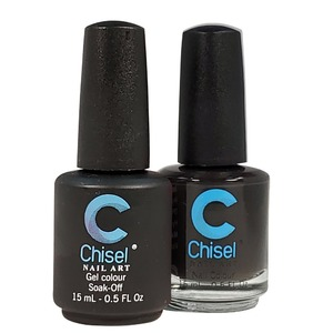 Chisel Duo Matching Soak Off Gel Polish 0.5 oz. + Nail Lacquer 0.5 oz Matches Chisel Dipping Powder Colors! SOLID 5 (DUO-SOLID 5)