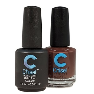 Chisel Duo Matching Soak Off Gel Polish 0.5 oz. + Nail Lacquer 0.5 oz Matches Chisel Dipping Powder Colors! SOLID 6 (DUO-SOLID 6)