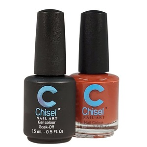 Chisel Duo Matching Soak Off Gel Polish 0.5 oz. + Nail Lacquer 0.5 oz Matches Chisel Dipping Powder Colors! SOLID 7 (DUO-SOLID 7)