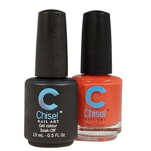 Chisel Duo Matching Soak Off Gel Polish 0.5 oz. + Nail Lacquer 0.5 oz Matches Chisel Dipping Powder Colors! SOLID 8 (DUO-SOLID 8)