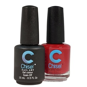 Chisel Duo Matching Soak Off Gel Polish 0.5 oz. + Nail Lacquer 0.5 oz Matches Chisel Dipping Powder Colors! SOLID 9 (DUO-SOLID 9)