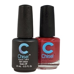 Chisel Duo Matching Soak Off Gel Polish 0.5 oz. + Nail Lacquer 0.5 oz Matches Chisel Dipping Powder Colors! SOLID10 (DUO-SOLID10)