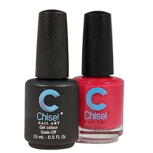 Chisel Duo Matching Soak Off Gel Polish 0.5 oz. + Nail Lacquer 0.5 oz Matches Chisel Dipping Powder Colors! SOLID11 (DUO-SOLID11)