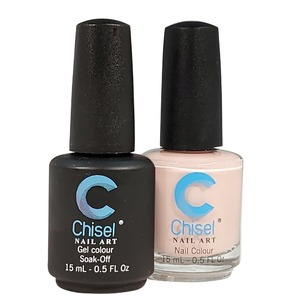 Chisel Duo Matching Soak Off Gel Polish 0.5 oz. + Nail Lacquer 0.5 oz Matches Chisel Dipping Powder Colors! SOLID12 (DUO-SOLID12)