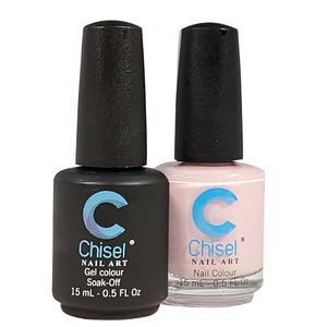 Chisel Duo Matching Soak Off Gel Polish 0.5 oz. + Nail Lacquer 0.5 oz Matches Chisel Dipping Powder Colors! SOLID15 (DUO-SOLID15)